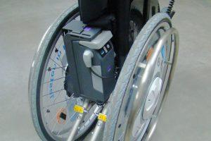 Akkuhalter für den Rollstuhl e-fix e36/e36 für einfachere Verladung