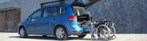 Fahrzeugumbau: Der SCOOTERBOY für die Verladung schwererer Rollstühle und Scooter im Kofferraum