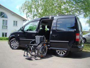 Der LADEBOY S2 ungefaltet im VW Caddy