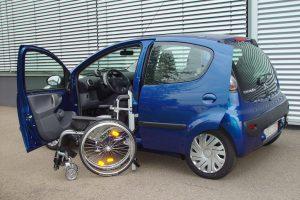 Citroen C1 mit Rollstuhlverladesystem LADEBOY S2